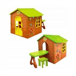 Vaikiškas pasakų sodo namelis su staliuku