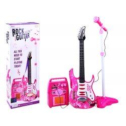 Vaikiška gitara su kolonėle ir mikrofonu