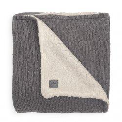 Pilka megzta antklodėlė