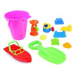 Smėlio žaislų rinkinys su motorine valtimi