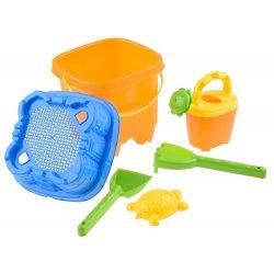 Kibirėlis su įvairiais smėlio žaislais