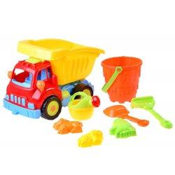 Spalvingas sunkvežimis su smėlio žaislais