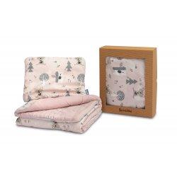 """Rožinis pagalvės ir antklodės rinkinys - """"Cotton"""""""
