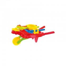 """Raudonas karutis su smėlio žaislais """"Vėžliukas"""""""