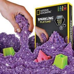Žėrintis purpurinis National Geographic kinetinis smėlis