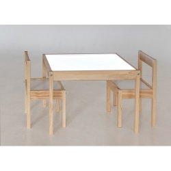 Šviečiantis smėlio staliukas su kėdėmis