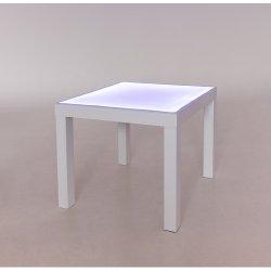 Baltas šviečiantis smėlio stalas