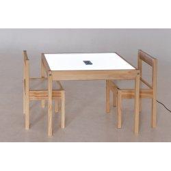 Šviesos staliukas su kėdutėmis bei antstaliu smėliui ir vandeniui