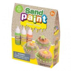 3 neoninių spalvų kinetinio smėlio dažai