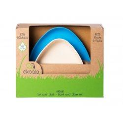 eKoala ekologiškų dubenėlių rinkinys (balta/mėlyna)