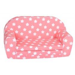 Rožinė sofutė su žvaigždelėmis