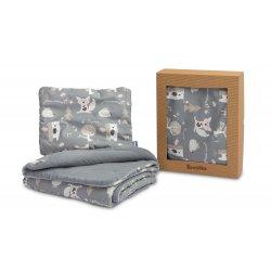 """Pilkas pagalvės ir antklodės rinkinys - """"Cotton"""""""