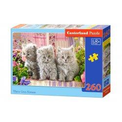 """Castroland dėlionė - """"Trys pilki kačiukai"""" / 260 detalių"""