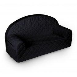 Juodo aksomo vaikiška sofa