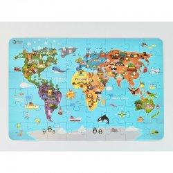 """Dėlionė """"Pasaulio žemėlapis"""" (48 dalys)"""