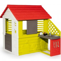 Žaidimų namelis su virtuve ir jos aksesuarais (17 vnt.)