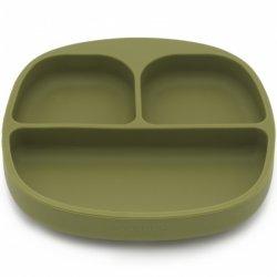 KOOLECO silikoninė prisisiurbianti lėkštė (alyvuogių spalvos)