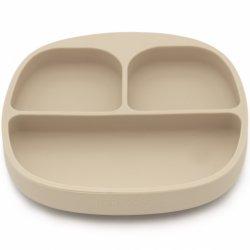 KOOLECO silikoninė lėkštutė su skyreliais (smėlio spalvos)