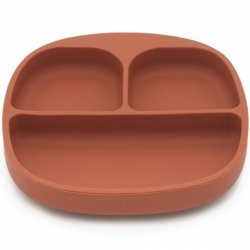 KOOLECO silikoninė prisisiurbianti lėkštė su skyreliais
