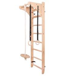 Reguliuojamo aukščio gimnastikos sienelė su aksesuarais