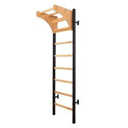Metalo ir medžio konstrukcijos reguliuojama gimnastikos sienelė