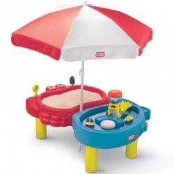Smėlio ir vandens žaidimų staliukas su skėčiu