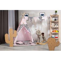 Rožinė žaidimų palapinė - Forest / su langeliu